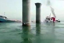 Photo of اولین فیلم از لحظه غرق شدن کشتی ایرانی بهبهان در سواحل عراق