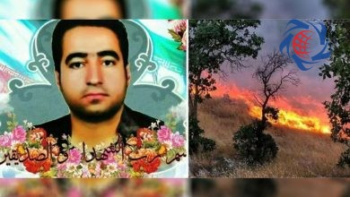Photo of مرگ درناک احسان عزیزی هنگام مهار آتش سوزی جنگلهای بلوط +عکس