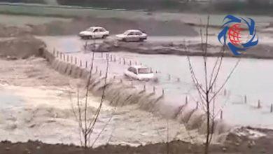 Photo of فیلم لحظه رد شدن پراید از میان سیل در ساری